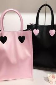 Pink Black Bag for Women