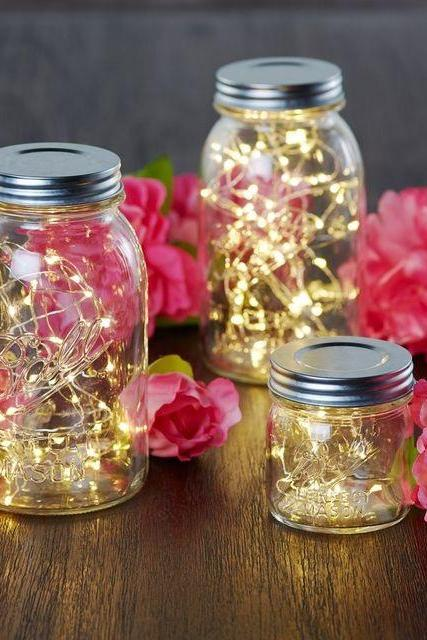 1 Mason Jar with 10 Piece LED for Wedding Home Party
