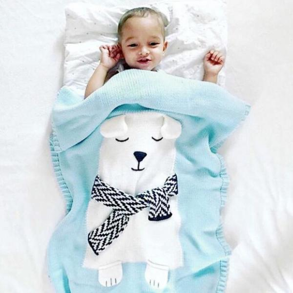 New Arrival Baby Child White Bear Blankets